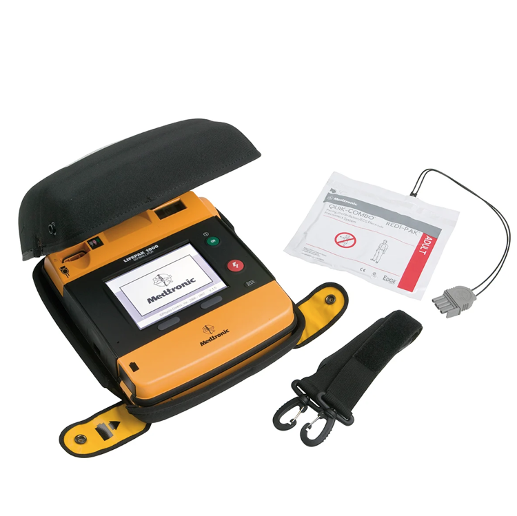 LIFEPAK 1000 with 3 Lead ECG & Manual Override with Accessories